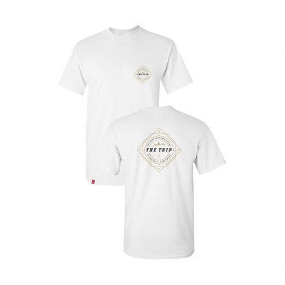 The Trip white compass t-shirt